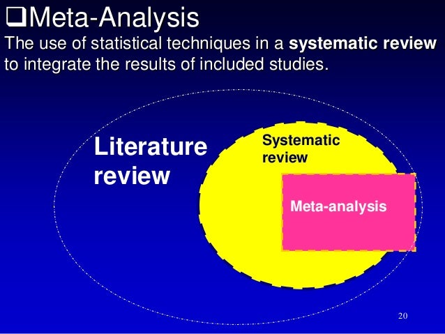 hierarchy of evidence literature review